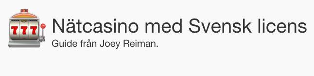 Joey Reiman om nätcasinon i Sverige: online casino recensioner & fakta