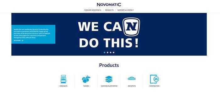 Novomatic-homepge